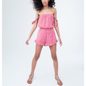 NEW Aeropostale Floral embroidered romper